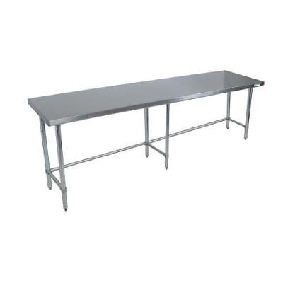 """BK Resources SVTOB-8424 Work Table,84""""W x 24""""D,18/430 stainless steel top"""