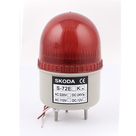 Unique Bargains DC 24V Buzzer Sound Red Warning Tower Lamp Security  Industrial Signal Light - Walmart com