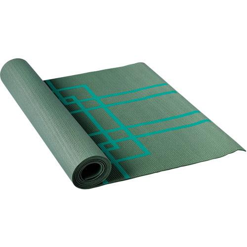 Lotus Yoga Alignment Mat, Teal