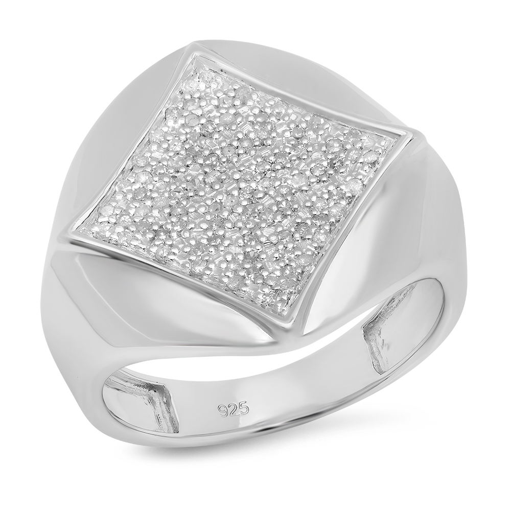 Dazzling Rock 0.35 Carat (ctw) Sterling Silver White Diam...