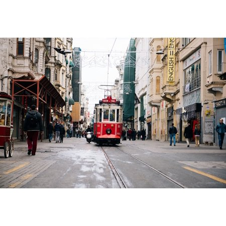 - Framed Art for Your Wall Streets Trolley People Streetcar Pedestrians City 10x13 Frame
