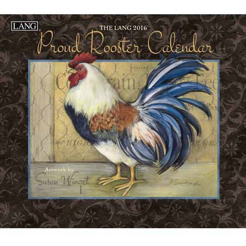 Lang Proud Rooster 2016 Wall Calendar