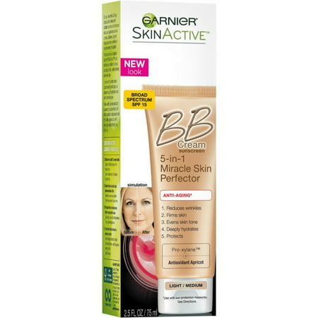 2 Pack - Garnier SkinActive Miracle Skin Perfector BB Cream Anti-Aging Light/Medium 2.5