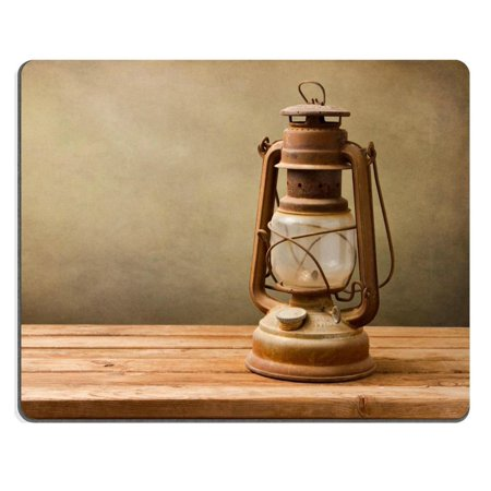 POPCreation Vintage kerosene lamp on wooden table over grunge Mouse pads Gaming Mouse Pad 9.84x7.87 inches ()