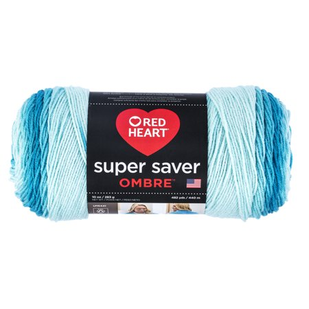 Red Heart Super Saver Ombre Yarn, SCUBA