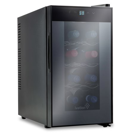 Ivation 8 Bottle Thermoelectric Countertop Freestanding Wine Cooler/Fridge - Vertical -