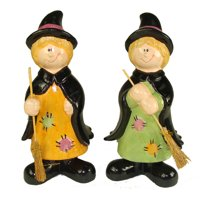 """Club Pack of 36 Friendly Halloween Witch Table Top Figurines 8"""""""