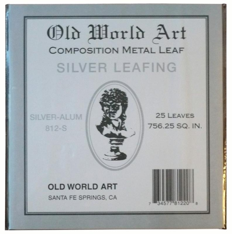 "Old World Art Metallic Leafing Sheet, 5.5"" x 5.5"", Composition Silver/Aluminum"