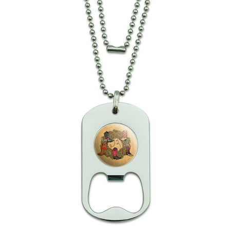 Christmas Holiday Boot Wreath Cowboy Horshoes Western Military Dog Tag Bottle Opener Pendant (Dallas Cowboy Wreath)