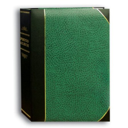 Pioneer Photo Albums 50-Pocket Hunter Green and Black Ledger Style Leatherette Cover Photo Album for 5 by 7-Inch Prints ()