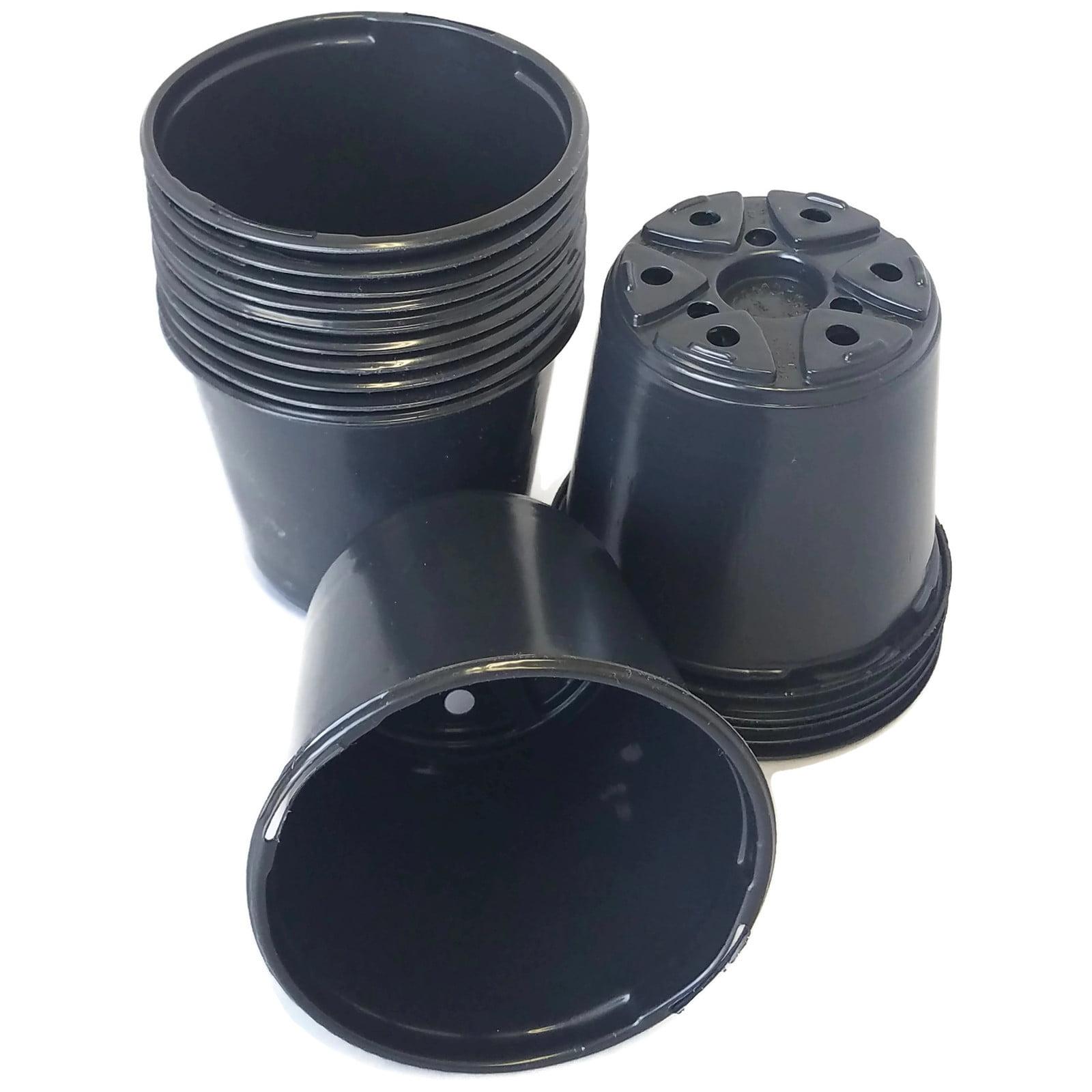 Landmark 4 Black Plastic Nursery Pot