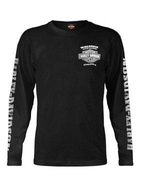 384f5d5dc486 Product Image Men's Skull Lightning Crest Graphic Long Sleeve Shirt, Black, Harley  Davidson