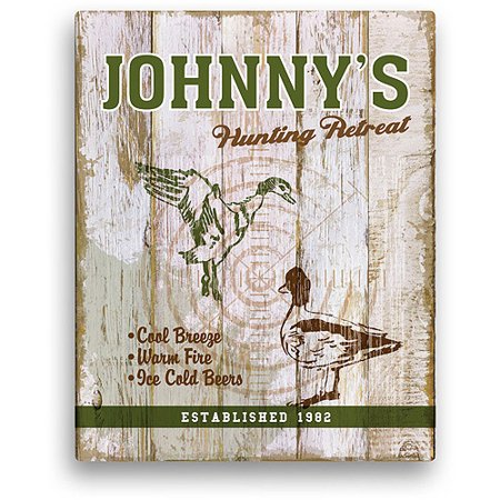 """Personalized 11"""" x 14"""" Hunting Canvas thumbnail"""