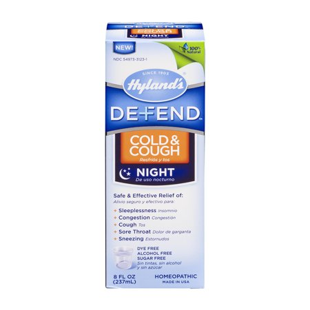 Hyland's Defend Cold & Cough Night, 8 Fl Oz