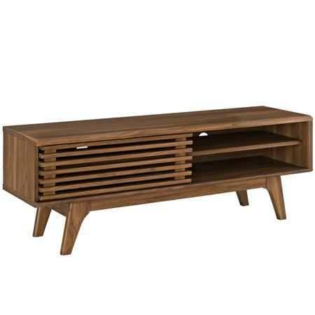 Modern Contemporary Urban Design Living Room Lounge Club Lobby Media TV Stand Console Table, Wood, Brown