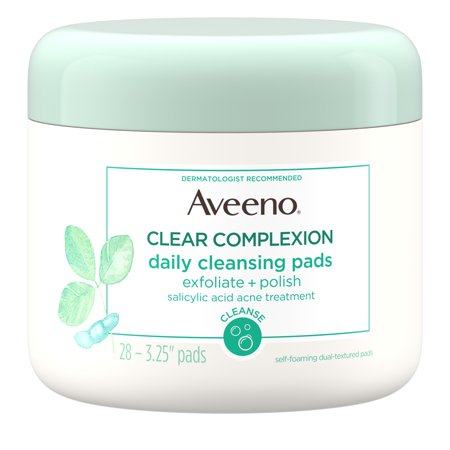 Aveeno Clear Complexion Daily Facial Cleansing Pads, 28 (Cleansing Pad)