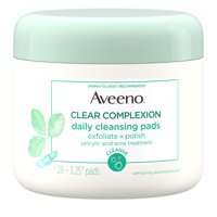 Aveeno Clear Complexion Daily Facial Cleansing Pads, 28 ct