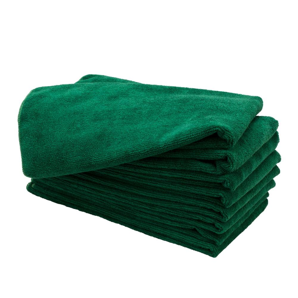 "Optima Plus 15"" x 24"" 8 Pack Microfiber Salon Towels, DARK GREEN, 82625"