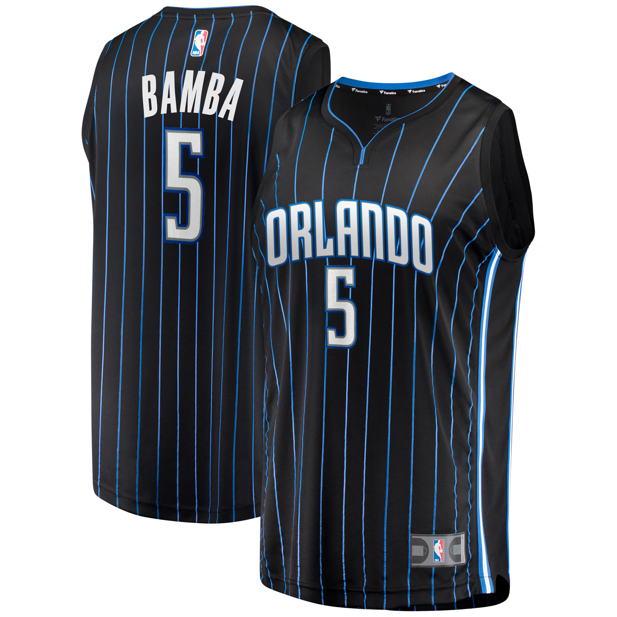 Mohamed Bamba Orlando Magic Fanatics Branded Youth Fast Break Jersey - Statement Edition - Black