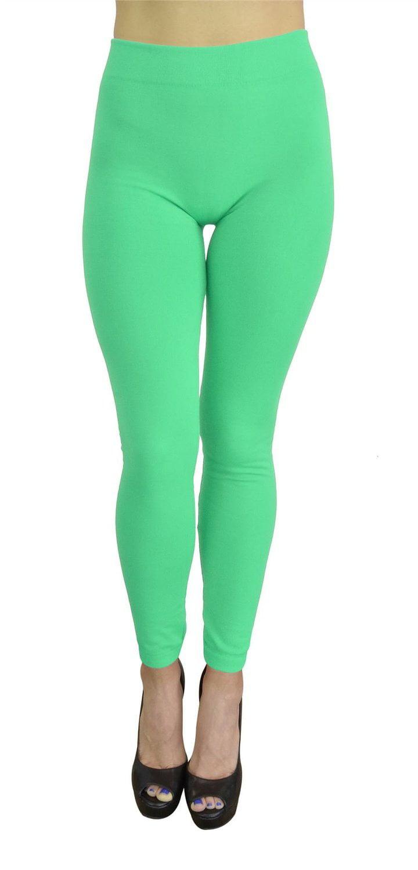 Belle Donne Women/'s Warm Winter Fall Fleece Lined Solid Color Leggings