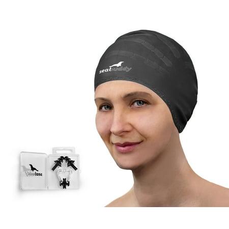 Combo 60 Caps (SealBuddy Silicone Swim Cap, Nose Clip and Ear Plugs)