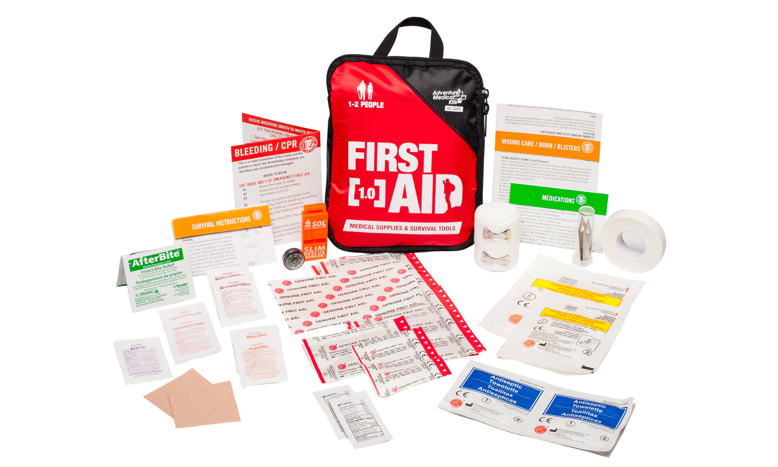Adventure Medical Kits, Adventure First Aid 1.0 First Aid Kit by Tender Corporation