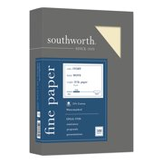 """Southworth 24lb 25% Cotton Business Paper - Letter - 8 1/2"""" x 11"""" - 24 lb Basis Weight - Recycled - 25% Recycled Content - Wove - 500 / Box - Ivory"""