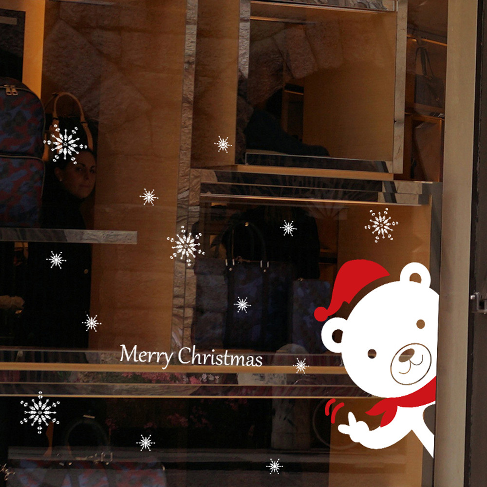 Christmas Snowman Removable Home Vinyl Window Wall Stickers Decal Decor A