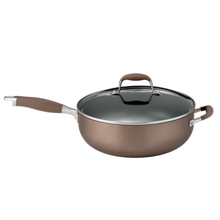 (Anolon Advanced 5 Quart Covered Hard Anodized Nonstick Covered Chef Pan, Bronze)