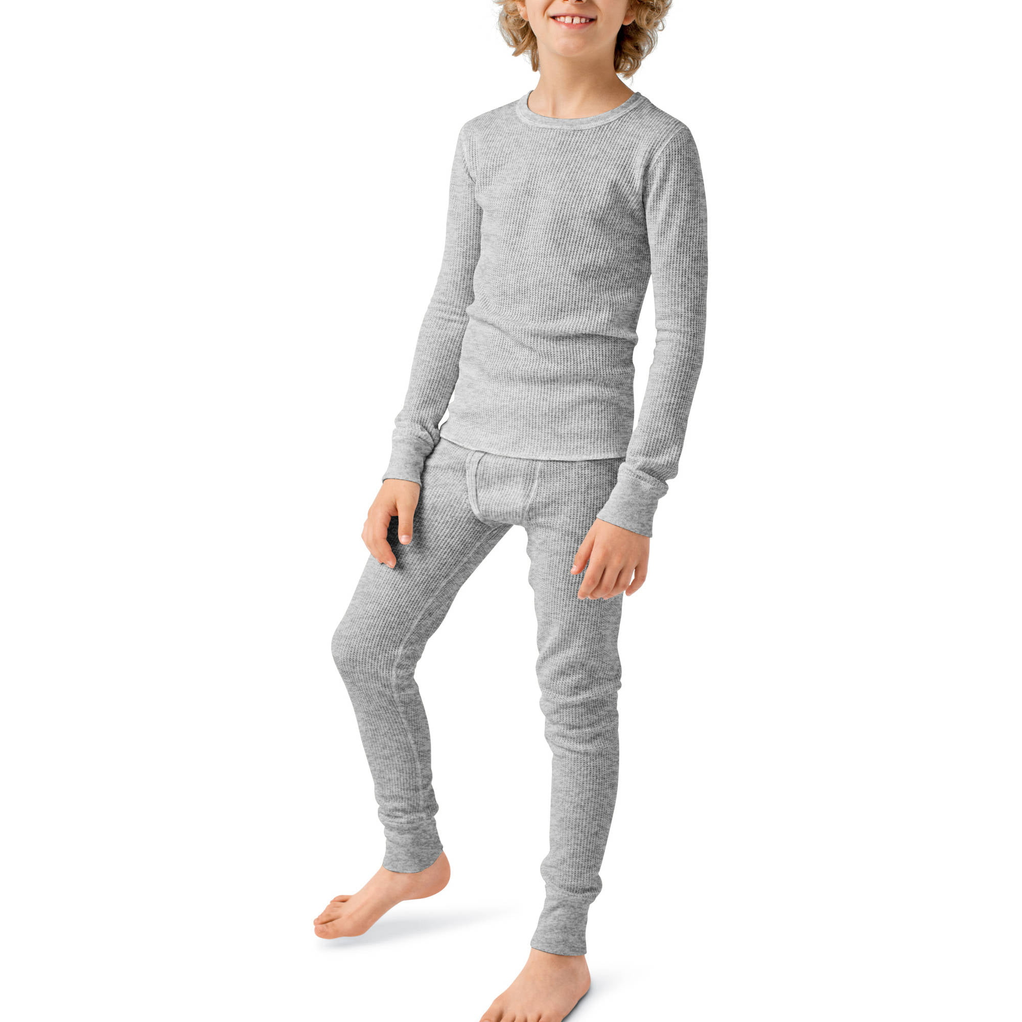 Boys Winter Thermal Underwear Tops Ultra Soft Stretch Cold Gear Long Johns Shirts Size 8