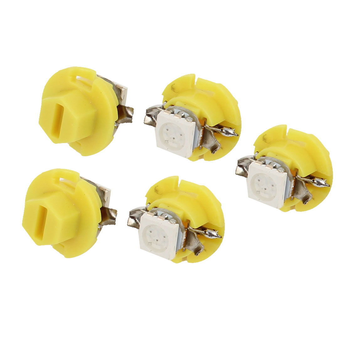 Unique Bargains Yellow B8.4D 5050 SMD 1- Dashboard Vanity Mirror Light Bulb 5 Pcs Internal - image 1 of 1