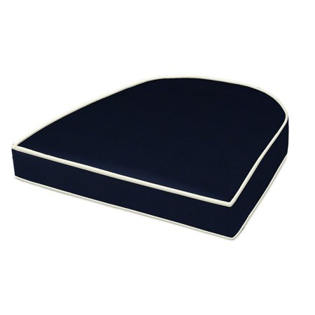 Cushion Source 18 x 16 in. Solid Rounded Back Sunbrella Chair Cushion ()
