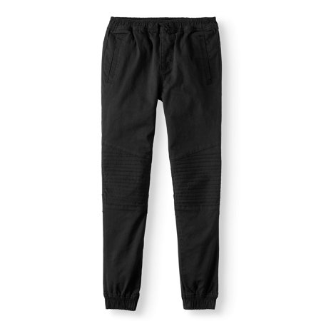Swiss Cross Pull On Stretch Twill Moto Jogger Pants (Big -