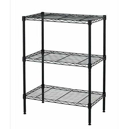 BestOffice New Wire Shelving Cart Unit 3 Shelves Shelf Rack Layer Tier