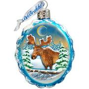 GDeBrekht 771025 Moose Glass Ornament