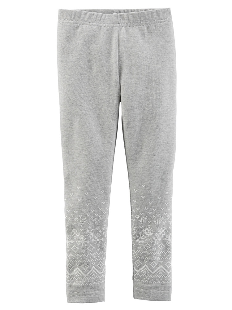 Carters Baby Clothing Outfit Girls Sparkle Leggings Grey Fairisle