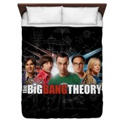 Big Bang Theory Group Spark Queen Duvet Cover White 88X88
