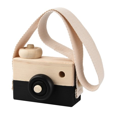 New amsuing Wooden Toy Camera Kids Creative Neck Hanging Rope Toy Photography Prop Gift