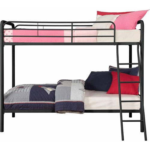 Dorel DHP Twin Over Twin Metal Bunk Bed Multiple Colors Walmart
