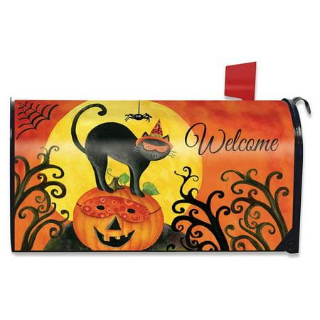 Black Cat Halloween Mailbox Cover Jack O'lantern Standard Briarwood Lane