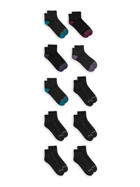 Fruit of The Loom Ladies Ankle Socks, 10 Pack