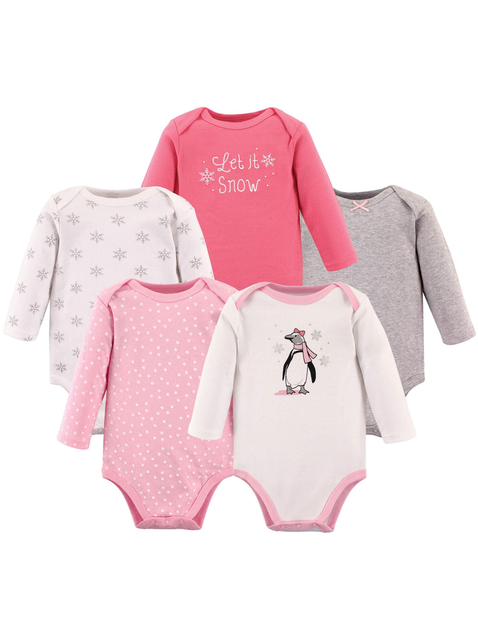 17e2b6f9388e Babyvision - Girl Long Sleeve Bodysuits, 5-pack - Walmart.com