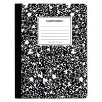 Universal Composition Book, Wide/Legal Rule, Black Marble Cover, 9.75 x 7.5, 100 Pages, 6/Pack -UNV20936