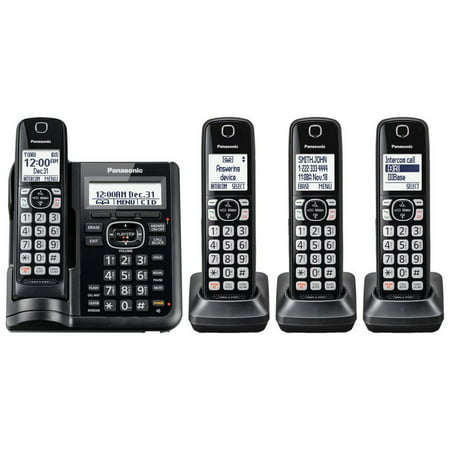 Panasonic Cordless Phones with Answering Machine - 4 Handsets (Panasonic Digital Answering Machine)