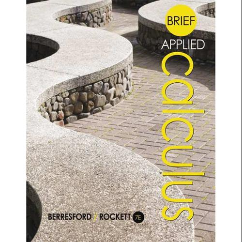 CENGAGE LEARNING 9781305085329 Book,Brief Applied Calculus,7th G0122650