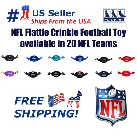 Pets First NFL San Francisco 49ers Flattie Football Toy - Licensed, Soft-Plush durable Rope Toys for Dogs, Cats 8 San Francisco 49ers Football