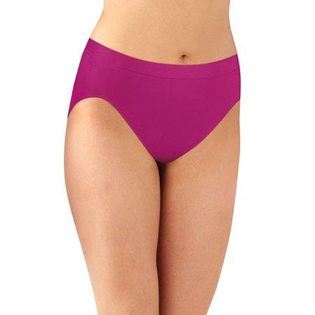 Bali Womens Comfort Revolution Microfiber Hi-Cut Panty 3-Pack, 6/7