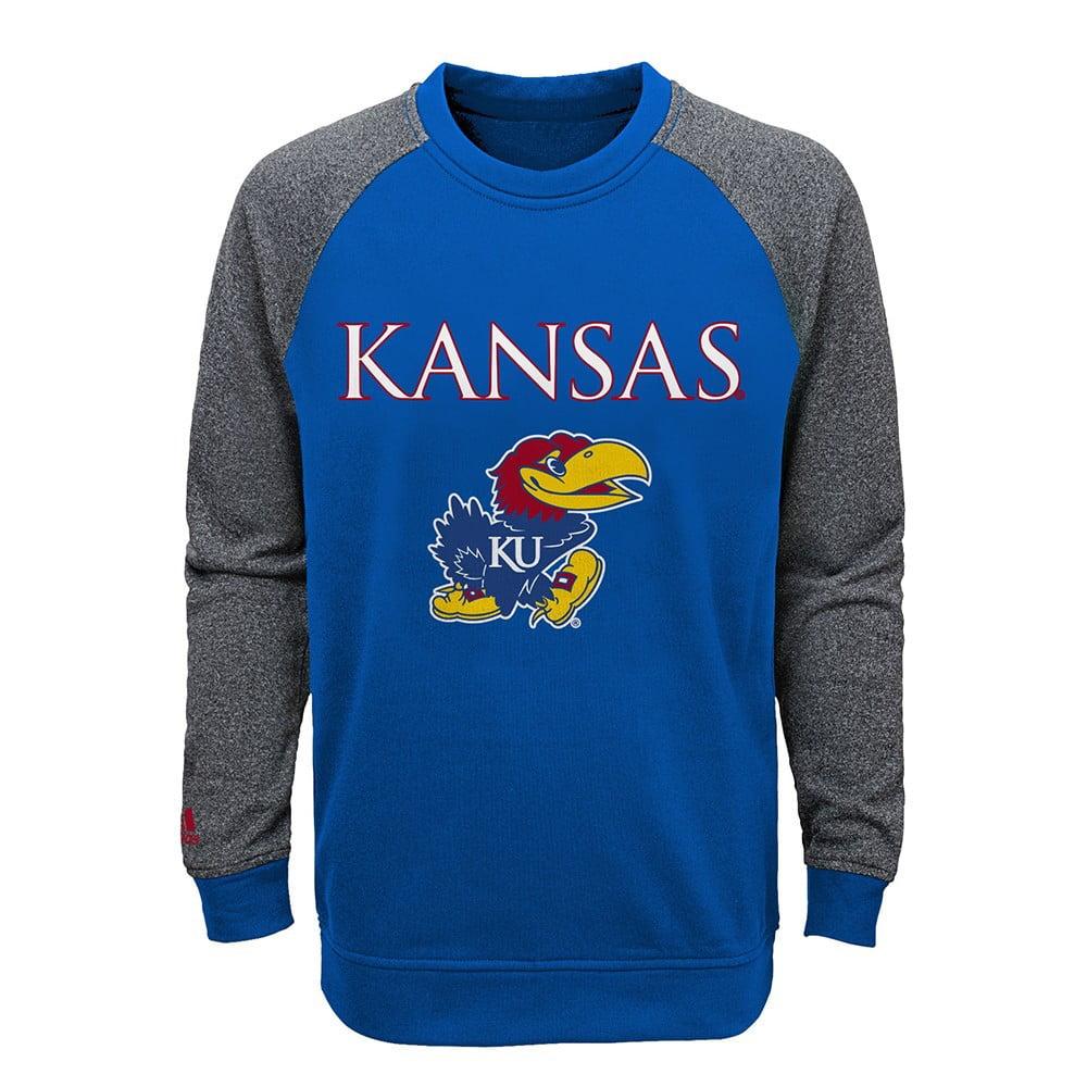 Kansas Jayhawks NCAA Primary Team Logo Crewneck Sweatshirt Youth (S-XL)