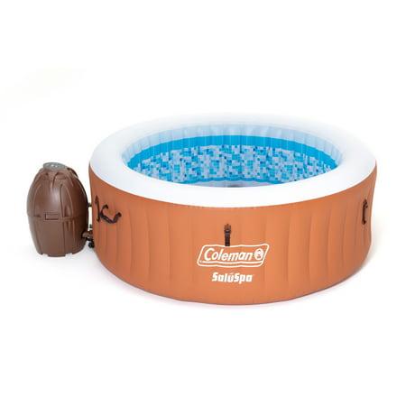 Coleman 90455 SaluSpa Miami Air Jet 4 Person Inflatable Hot Tub Spa with Pump