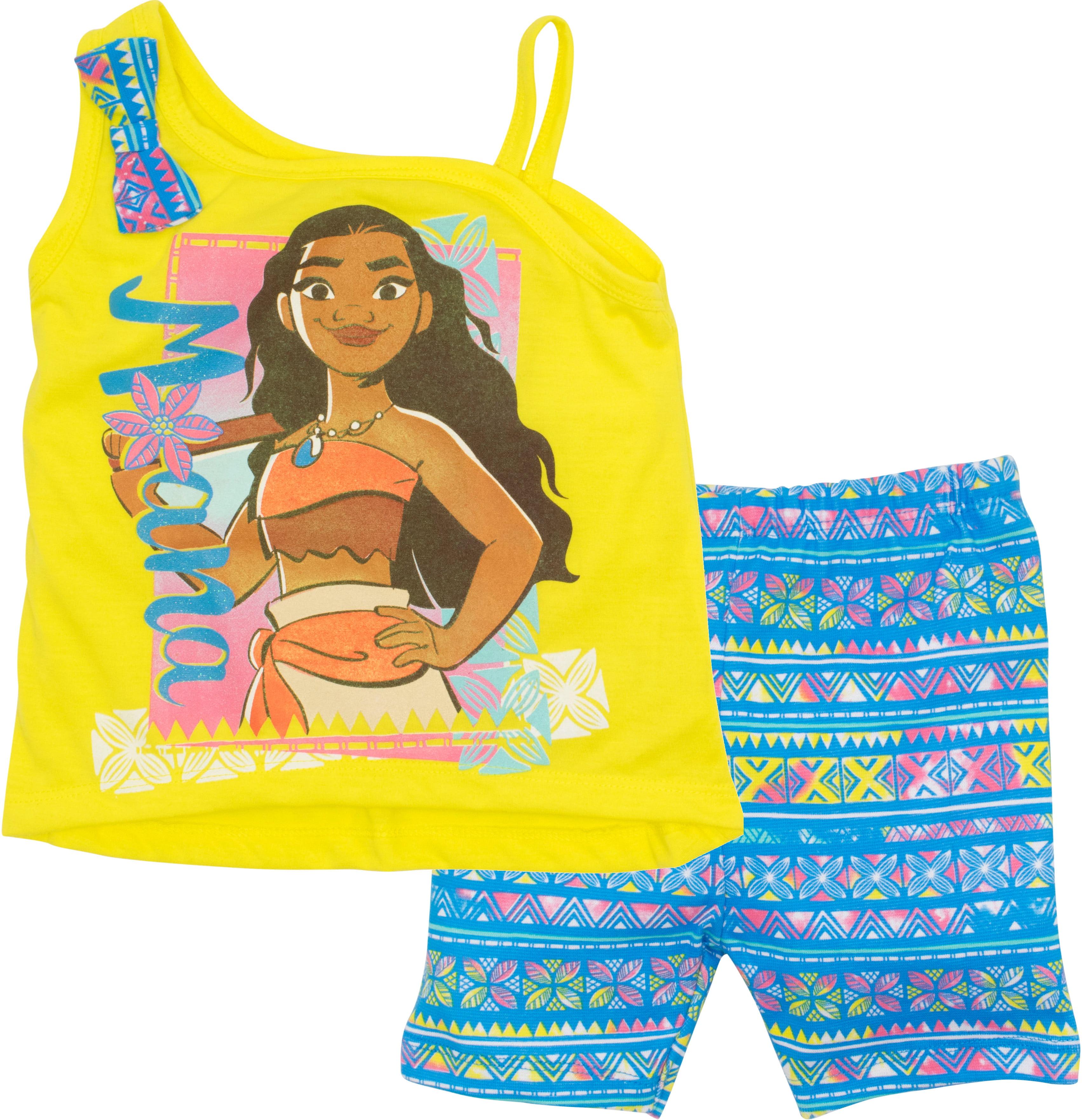 Disney Little Girls Toddler Moana Bike Shorts Set